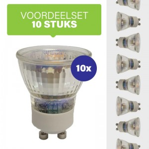 Voordeelpak 10x Dimbare led spot GU10 35mm (MR11) 2700K/warm wit