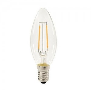 Led filament E14 kaarslamp warm wit 1W (B35)