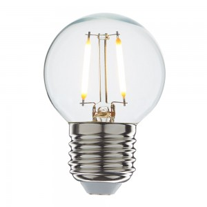 Led filament E27 kogellamp warm wit 1W (G45)