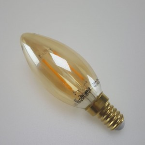Led filament E14 kaarslamp flame 1W (B35)