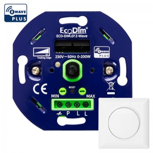 Z-Wave led dimmer draai 0-200W, universeel